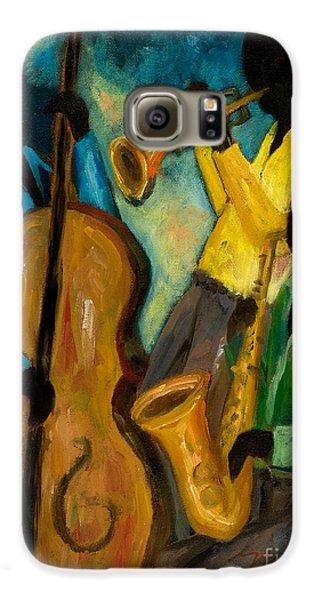 Trumpet Galaxy S6 Case - Little Jazz Trio IIi by Larry Martin
