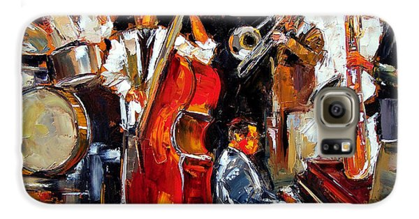 Trombone Galaxy S6 Case - Living Jazz by Debra Hurd