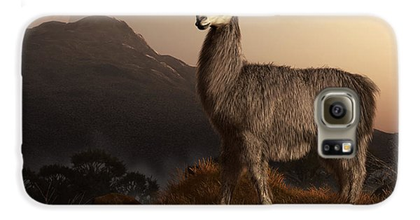 Llama Dawn Galaxy S6 Case by Daniel Eskridge