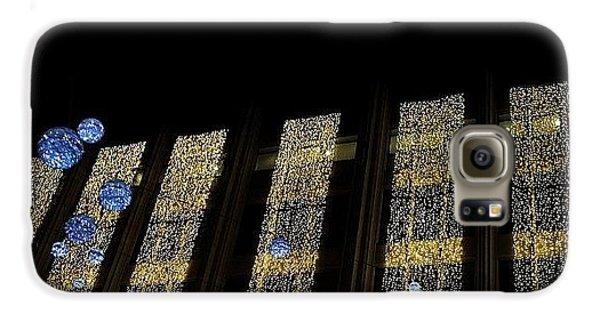 #london #decorative #lights #christmas Galaxy S6 Case by Rannjan Joawn