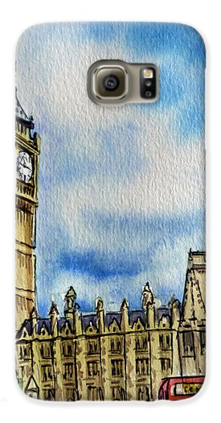 London England Big Ben Galaxy S6 Case by Irina Sztukowski