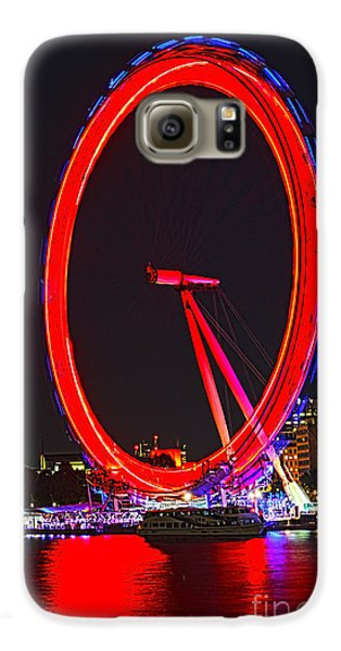 London Eye Red Galaxy S6 Case by Jasna Buncic