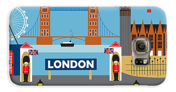 London England Skyline By Loose Petals Galaxy S6 Case by Karen Young