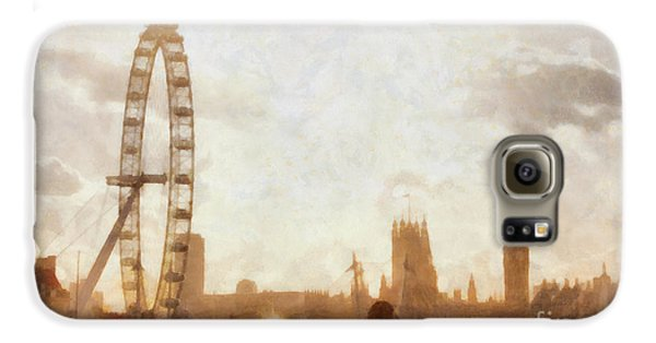 London Skyline At Dusk 01 Galaxy S6 Case by Pixel  Chimp