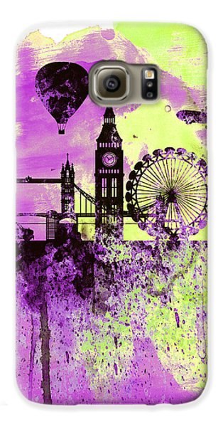 London Skyline Galaxy S6 Case - London Skyline Watercolor 1 by Naxart Studio