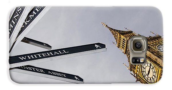 London Street Signs Galaxy S6 Case by David Smith