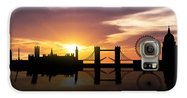 London Sunset Skyline  Galaxy S6 Case by Aged Pixel