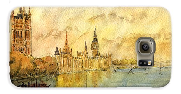 London Thames River Galaxy S6 Case by Juan  Bosco