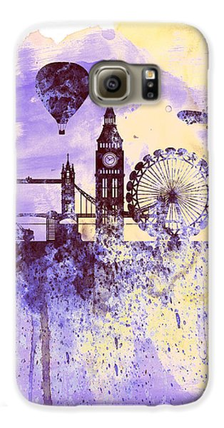 London Skyline Galaxy S6 Case - London Watercolor Skyline by Naxart Studio