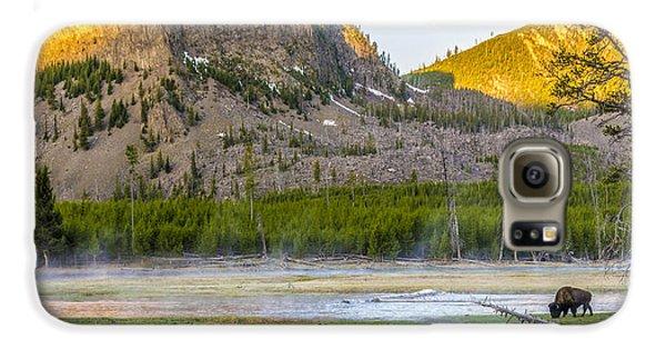 Lone Buffalo Yellowstone National Park Galaxy S6 Case