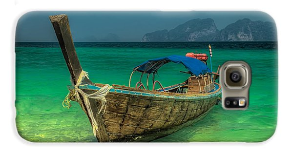 Transportation Galaxy S6 Case - Longboat by Adrian Evans