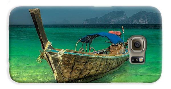 Boat Galaxy S6 Case - Longboat by Adrian Evans