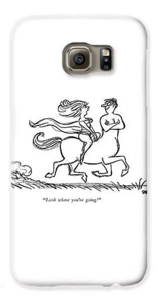 Centaur Galaxy S6 Case - Look Where You're Going! by Frank Modell