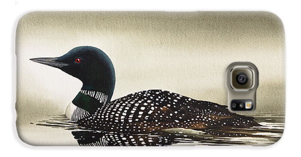 Loon In Still Waters Galaxy S6 Case by James Williamson