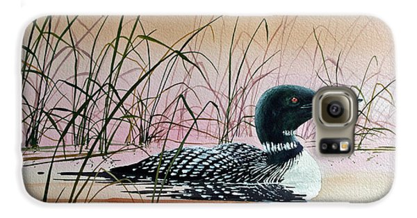 Loon Sunset Galaxy S6 Case by James Williamson