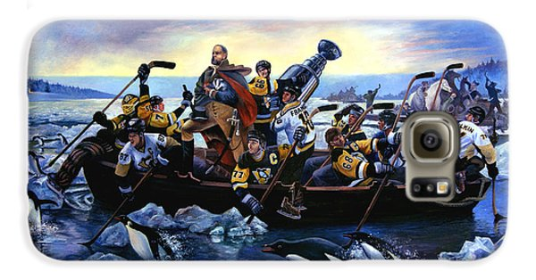 Lord Stanley And The Penguins Crossing The Allegheny Galaxy S6 Case