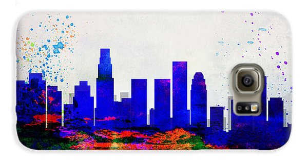 Los Angeles City Skyline Galaxy S6 Case by Naxart Studio