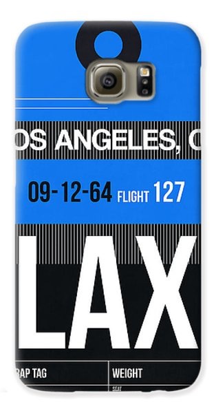 Los Angeles Galaxy S6 Case - Los Angeles Luggage Poster 3 by Naxart Studio