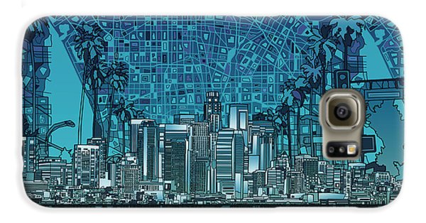 Los Angeles Skyline Abstract 5 Galaxy S6 Case