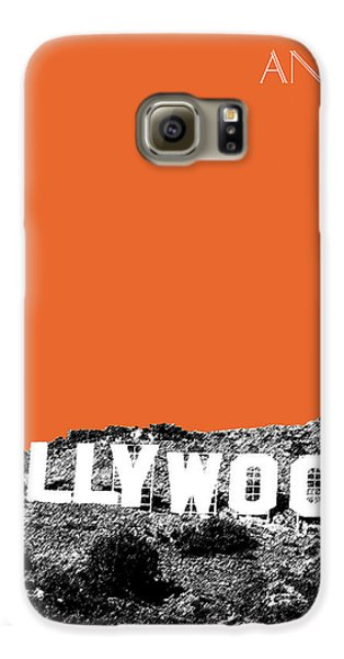 Los Angeles Skyline Hollywood - Coral Galaxy S6 Case by DB Artist