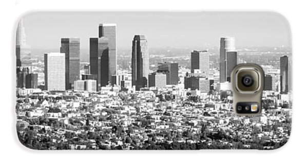 Los Angeles Skyline Panorama Photo Galaxy S6 Case by Paul Velgos