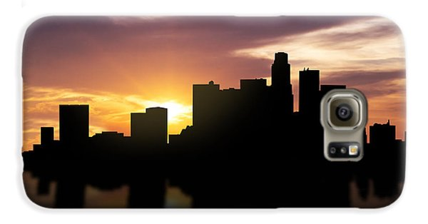 Los Angeles Sunset Skyline  Galaxy S6 Case by Aged Pixel