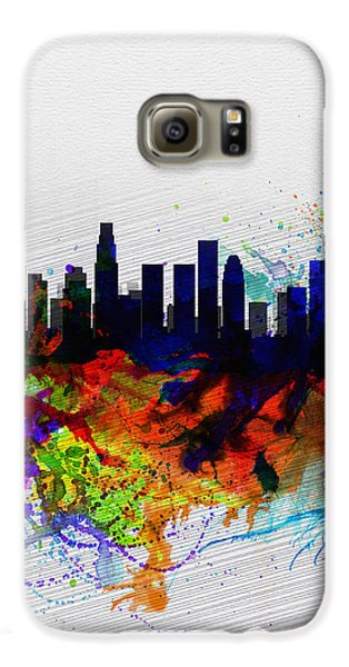 Los Angeles  Watercolor Skyline 2 Galaxy S6 Case by Naxart Studio
