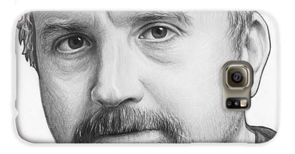 Louis Ck Portrait Galaxy S6 Case by Olga Shvartsur