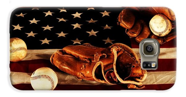 Baseball Gloves Galaxy S6 Case - Louisville Slugger by Dan Sproul