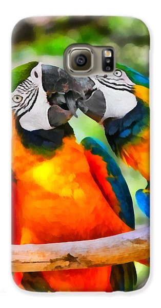 Love Bites - Parrots In Silver Springs Galaxy S6 Case by Christine Till