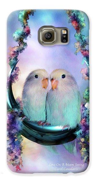 Love On A Moon Swing Galaxy S6 Case by Carol Cavalaris