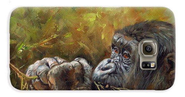 Lowland Gorilla 2 Galaxy S6 Case by David Stribbling