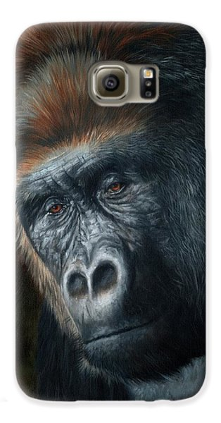 Gorilla Galaxy S6 Case - Lowland Gorilla Painting by David Stribbling