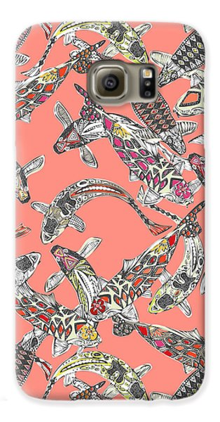 Lucky Koi Coral Galaxy S6 Case by Sharon Turner