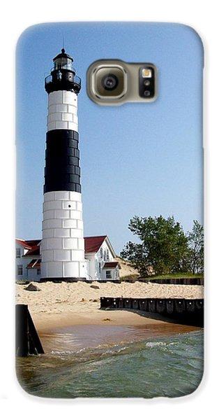 Ludington Michigan's Big Sable Lighthouse Galaxy S6 Case by Michelle Calkins