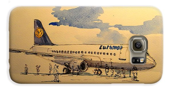 Jet Galaxy S6 Case - Lufthansa Plane by Juan  Bosco