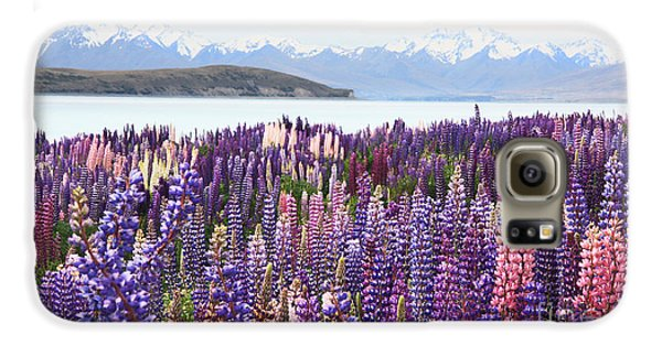 Galaxy S6 Case featuring the photograph Lupins At Tekapo by Nareeta Martin
