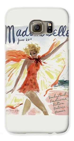 Mademoiselle Cover Featuring A Model At The Beach Galaxy S6 Case