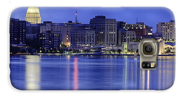 Galaxy S6 Case featuring the photograph Madison Skyline Reflection by Sebastian Musial
