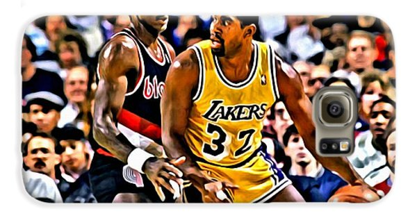 Magic Johnson Vs Clyde Drexler Galaxy S6 Case