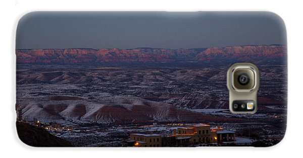 Magic Light Red Rocks With Snow Galaxy S6 Case