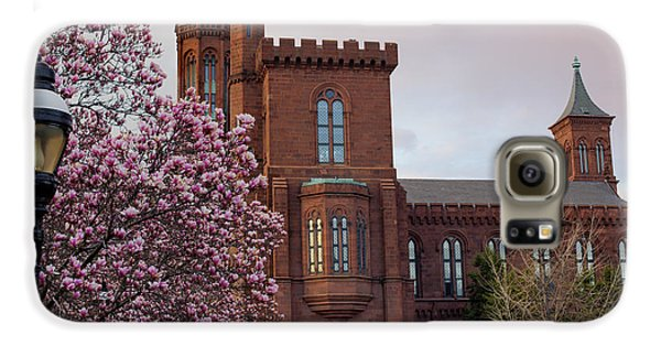 Smithsonian Museum Galaxy S6 Case - Magnolias Near The Castle by Andrew Pacheco