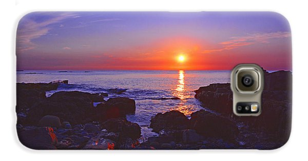 Maine Coast Sunrise Galaxy S6 Case