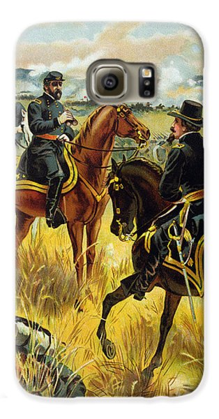 Major General George Meade At The Battle Of Gettysburg Galaxy S6 Case by Henry Alexander Ogden