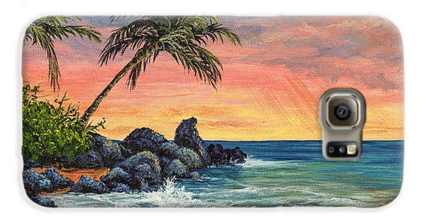 Makena Beach Sunset Galaxy S6 Case