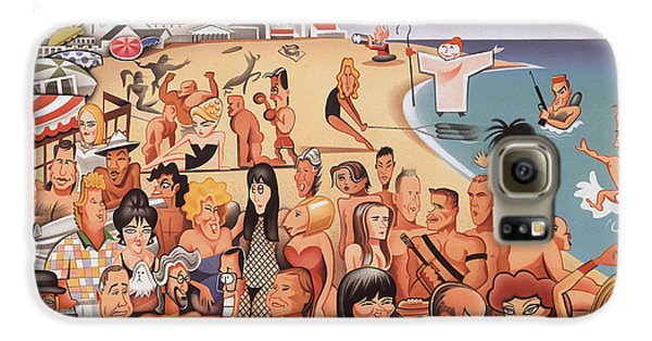 Malibu Beach Galaxy S6 Case by Robert Risko