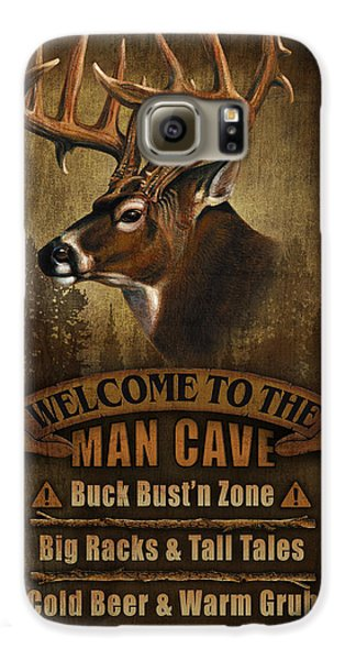 Pheasant Galaxy S6 Case - Man Cave Deer by JQ Licensing