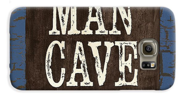 Man Cave Enter At Your Own Risk Galaxy S6 Case by Debbie DeWitt