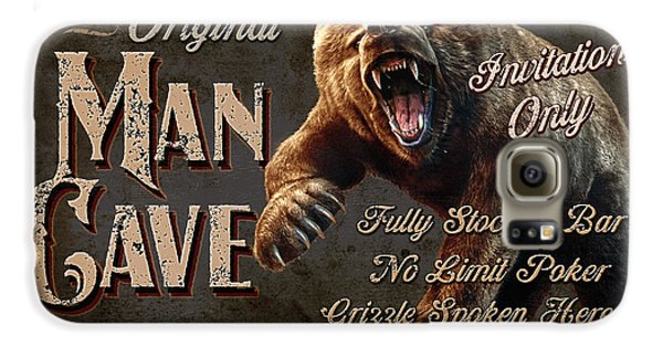 Grizzly Bear Galaxy S6 Case - Man Cave Grizzly by JQ Licensing