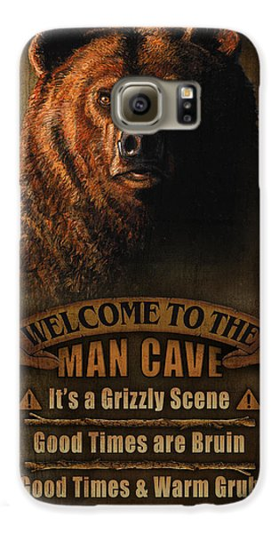 Pheasant Galaxy S6 Case - Man Cave Grizzly by JQ Licensing